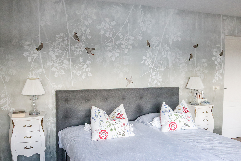 je suis flore, slaapkamer make-over, slaapkamer, slaapkamer makeover, make-over, makeover, interieur advies, interieur design, interior design, wallpaper, behang, photowall