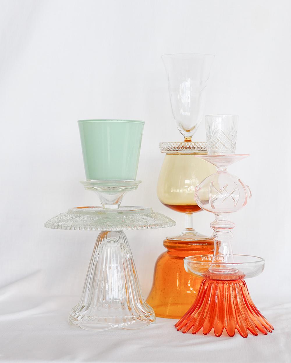 je suis flore, glass art, glass art buttercup, kandelaar, glass art lily, glass art tulips from Amsterdam