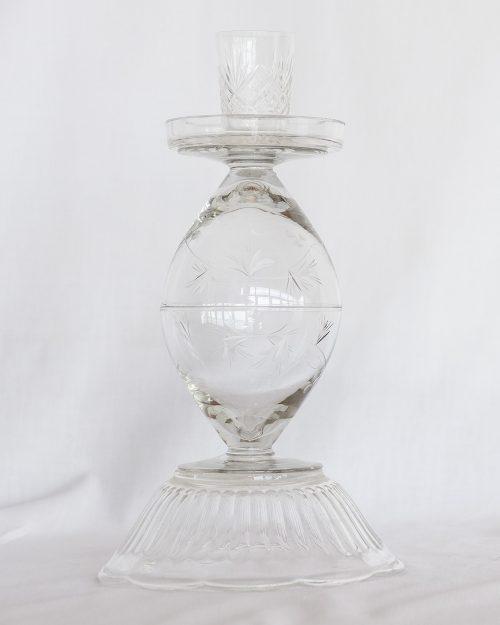 je suis flore, glass art, glass art lady glass, kandelaar